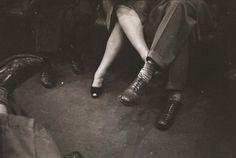 riding the subway, nyc 1946