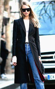 Tailored Black Coat.