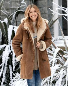 【Clearance Sale💥Shipped Within 24h】Hooded Toscana Coat - inkshe.com Westerns, Coats For Women, Clothes For Women, Sheepskin Jacket, Shearling Jacket, Fur Jacket, Outerwear Women, Jackets, Clearance Sale
