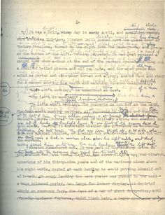 Nineteen Eighty-Four original manuscript edited by the man himself, Eric Arthur Blair (George Orwell).