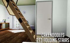 """cakenoodles: """" Heyyy, so I wanted a attic stair door just for decor so I…"""