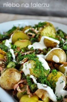 Party Salads, Baked Potato, Potato Salad, Grilling, Recipies, Healthy Recipes, Healthy Food, Food And Drink, Appetizers
