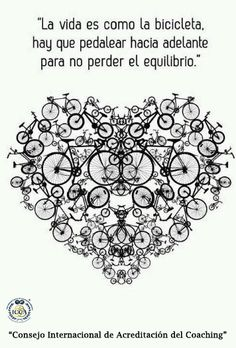 Albert Einstein - La vida es como andar en bicicleta / Life is like riding a bicycle. To keep your balance you must keep moving Bicycle Painting, Bicycle Art, Cycling Quotes, Bike Quotes, Simple Pleasures, Albert Einstein, Decir No, Artsy, Graphic Design