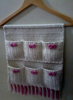 And Lovely Crochet Ideas With Knitting Patterns - Latest ideas information Crochet Organizer, Crochet Storage, Crochet Gifts, Free Crochet, Knit Crochet, Crochet Decoration, Crochet Home Decor, Crochet Flower Patterns, Knitting Patterns