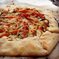 Proyecto Cocina: Tarta rústica de zapallitos, tomates y cebolla