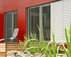 Outdoor blinds, external aluminium venetian blinds from Hella reduce energy consumption of your home. As seen on The Block. Exterior Blinds, The Block Glasshouse, Outdoor Blinds, Interior Windows, Home Reno, Glass House, Venetian, Habitats, Curtains