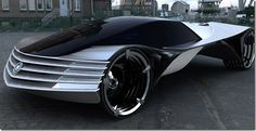 Future technology Concept Cars with nuclear technology