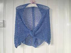 Stall & Craft Collective - Crochet Bluebell Blue Cobweb Shawl