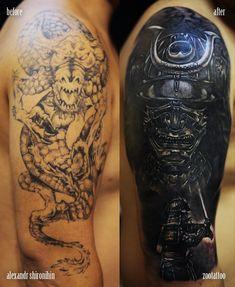 cover up  #blackandgray #realistic #tattoo #realism #фотореализм #тату #татуировкавкраснодаре #samurai #japan