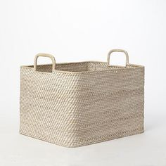 West Elm Modern-Weave Oversized Storage Bin and other furniture & decor products. Browse and shop related looks. Small Shelves, Small Storage, Diy Storage, Storage Shelves, Storage Ideas, Pillow Storage, Large Storage Baskets, Basket Storage, Book Storage