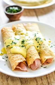 Discover the savory side of crepes—with this recipe for Ham and Cheese Herb Crepes with Homemade Hollandaise Sauce! This brunch dish would be a delicious addition to your Easter brunch menu.