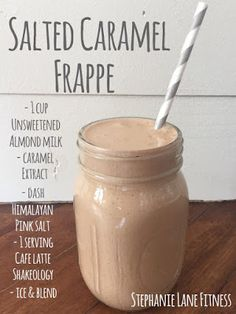 Salted Caramel Frappe Cafe Latte Shakeology Recipe Guilt Free Clean Eating Smoothie Healthy Dessert Blogger Stephanie Lane Fitness