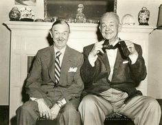 Cinema icons Stan Laurel and Oliver Hardy - reputedly the last photograph of them together in Laurel And Hardy, Stan Laurel Oliver Hardy, Golden Age Of Hollywood, Hollywood Stars, Classic Hollywood, Old Hollywood, Classic Comedies, Classic Films, Silent Film