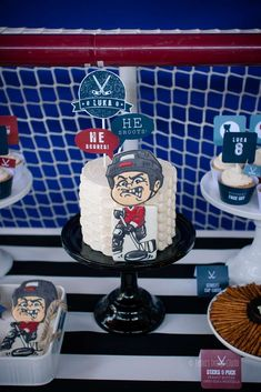Awesome hockey birthday party! See more party planning ideas at CatchMyParty.com!