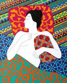 "Saatchi Online Artist: Daniel Kozeletckiy; Oil, 2011, Painting ""Sleeping with a pillow"""