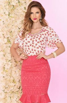 Like the skirt, but not with this blouse