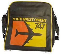 Vintage Northwest Orient 747 Airline Bag