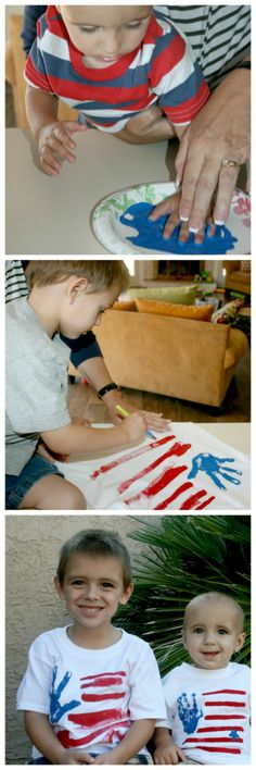 4th of July T-shirts Easy and fun for kids to make themselves.