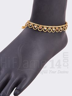 Exclusive Multicolor Stone Bridal Anklets rent in india. Exclusive Multicolor Stone Bridal Anklets affordable price at Indias best rental and shopping Site - www.HiFlame14.com