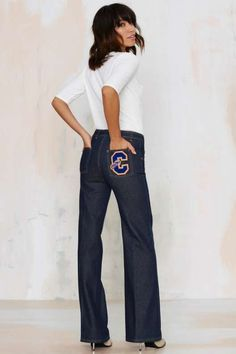 Vintage Chloé Take One for the Team Wide Leg Jeans