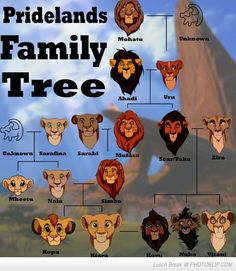 The Lion King family tree - where did all the other lions come from?! also, Kiara and Kovu weren't technically related because Scar chose Kovu as his heir, doesn't necessarily mean he was Scar's child
