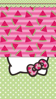 iPhone X Wallpaper 297096906664982465 Hello Kitty Backgrounds, Hello Kitty Wallpaper, Pink Wallpaper Iphone, Cute Christmas Backgrounds, Hello Kitty Characters, Sanrio Characters, Watermelon Wallpaper, Hello Sanrio, Hello Kitty Art