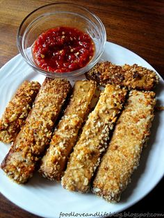 Crispy oven baked tofu. I made these and used the leftover marinade as a dip. These are good and get crispier the longer cooked. Enjoy - NF