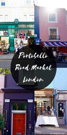 portobello road market london england, finding vintage shopping experiences in the uk London Shopping, London Travel, Vintage London, Portobello, London England, Europe Travel Tips, Travel Guides, Travel Destinations, Travel Uk