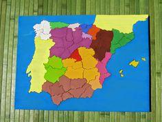 Criar, amar, vivir: Mapa de España Montessori - fabricación casera Parte I
