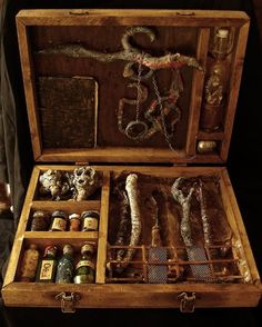 "Herbalist Kit. badass. I always find it kind of funny that the first herbalist were known and considered to be ""Witches."" hehe. they weren't making up spell casting concoctions, silly.. they were just making up medicines to heal... and the magic? IT WORKED. :) I love it! (AND its been said that some of my ancestors were witches) maybe that's why I love homeopathic meds"