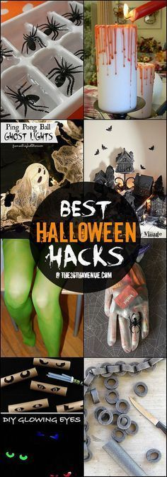 Halloween Hacks and DIY Decor Ideas at http://the36thavenue.com ...Pinning for later!