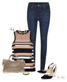 """""""Untitled #6258"""" by ksims-1 ❤ liked on Polyvore featuring Cheap Monday, River Island, Balenciaga, Sophia Webster, Alexis Bittar, House of Harlow 1960 and Sam Edelman"""