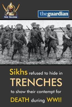 ‪#‎BlessedTobeSikh‬ ‪#‎SikhSoldiers‬ Sikhs refused to hide in TRENCHES to show their contempt for DEATH during WWI! It was a curious sight to all of us, French or English, the day when the Indians arrived in a dreary little town of Northern France … Suddenly the Indian Lancers appeared, and the pavement on both sides of the street was at once filled by a crowd of soldiers and civilians watching the procession, as a London crowd will do in Whitehall on the day of the opening of Parliament.