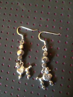 Silver poodle charm earrings by DriftwoodCreation on Etsy, $20.00