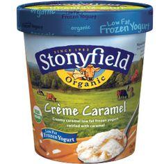 Stonyfield Frozen Yogurt - Creme Caramel. The perfect dessert for entertaining, if you can get around to sharing. #HolidayGiveawayWeek