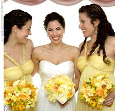 advantages of yellow bridesmaids dresses