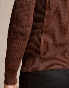 Coniston Jumper - Burnt Orange Cotton Knitwear