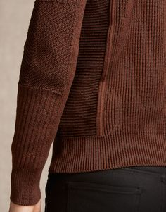 Coniston Jumper - Burnt Orange Cotton Knitwear e3521f83d