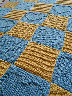 Textured Blocks Baby Blanket by Stephany Lein