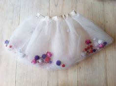Double layer tutu filled with pompoms