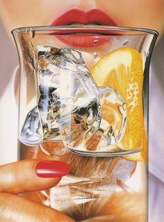 Airbrush Illustration for 'Paper Moon Graphics Greeting Card', (CA.) - Illustration by Toshikuni Okubo (b. Airbrush Art, 1980s Art, 80s Design, Design Art, Graphic Design, Paper Moon, Retro Waves, Arte Pop, Retro Art