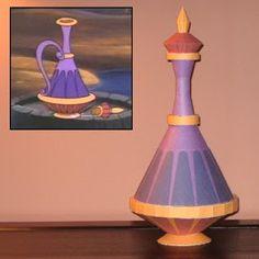 Disney Papercraft: Eden's Genie Bottle | Tektonten Papercraft
