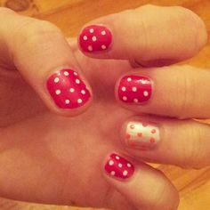 Spotty nail art, Stamp #NailArt