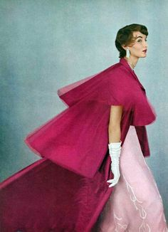 BALENCIAGA. Evelyn Tripp, Vogue June 1953, photo Richard Rutledge