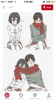 Mikasa does this and you witness it ( At home or in the Training Corps? Krista does this to you (In the Training Corps or at the old Survey Corps HQ, Petra sees this? Later asks about it? Eren And Mikasa, Eremika, Attack On Titan, Old Things, Anime, Petra, Training, Art, Art Background