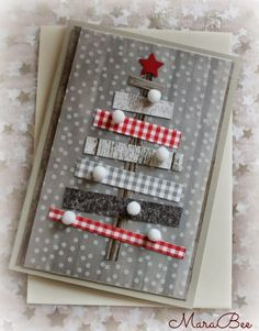 Creative DIY Christmas Card Ideas 2016 If you& a regular visitor of this page, I& sure you& seen our Handmade Christmas Cards and Best DIY Christmas Cards Ideas , there are tons of amazing holiday greeting card samples on both compilations that& Christmas Card Crafts, Homemade Christmas Cards, Noel Christmas, Christmas Projects, Homemade Cards, Handmade Christmas, Christmas Decorations, Christmas Movies, Holiday Greeting Cards