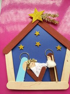 diy knutselen 51 Christmas Crafts DIY You Will Wan - Popsicle Stick Christmas Crafts, Christmas Card Crafts, Homemade Christmas Cards, Preschool Christmas, Christmas Activities, Craft Stick Crafts, Christmas Projects, Kids Christmas, Holiday Crafts