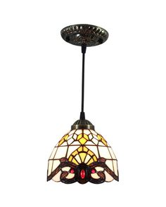Tiffany Stained Glass Baroque Ceiling Pendant Lighting