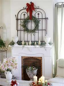 wrought iron gate with wreath