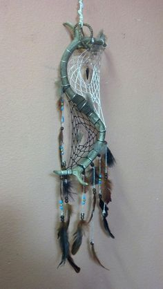 Double Deer Antler Dream Catcher